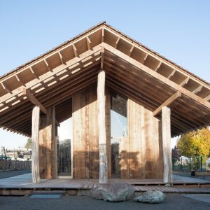 Pavillon d'accueil de la scierie © Émilie Gravoueille